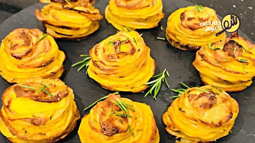 بطاطا_البطاطا_وردة_,وردات-بطاطا-بالجبنة-شو_طابخين_اليوم