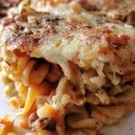 معكرونة-بالخضار-والجبنة- شو طابخين اليوم